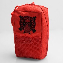 Battle Style Multi-functional Carrying Storage Bag for E-cigarette - Red, Canvas, 180 x 110 x 60mm