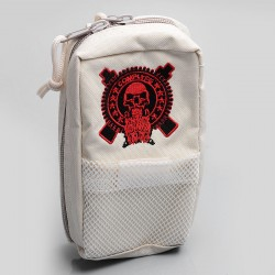 Battle Style Multi-functional Carrying Storage Bag for E-cigarette - White, Canvas, 180 x 110 x 60mm