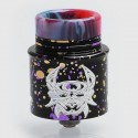 Devil Style RDA Rebuildable Dripping Atomizer w/ BF Pin - Spotted Black, Aluminum + Stainless Steel, 24mm Diameter