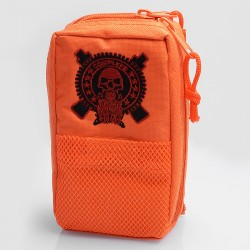 Battle Style Multi-functional Carrying Storage Bag for E-cigarette - Orange, Canvas, 180 x 110 x 60mm
