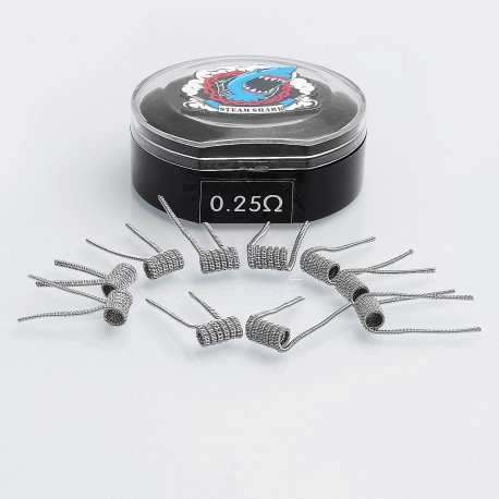 Authentic Vapethink Staggered Chain SS316L Pre-built Coil Heating Wire - 26GA x 32GA x 2 + 32GA, 0.25 Ohm (10 PCS)