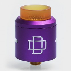 Authentic Augvape Druga RDA Rebuildable Dripping Atomizer w/ BF Pin - Purple, Stainless Steel, 24mm Diameter