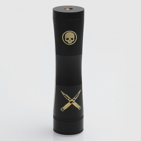 Cutthroat Edition Consvr Style Mechanical Mod - Black, Brass, 1 x 18650