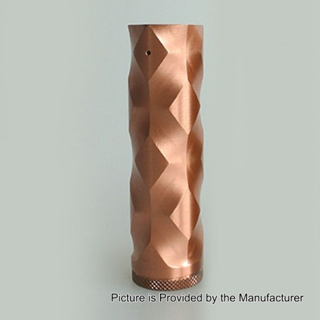 The Double Cross Style Hybrid Mechanical Mod - Copper, Copper, 1 x 18650