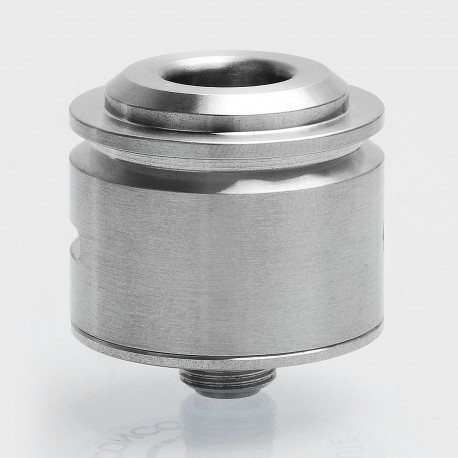 YFTK Le Concorde Style RDA Rebuildable Dripping Atomizer w/ BF Pin - Silver, 316 Stainless Steel, 22mm Diameter