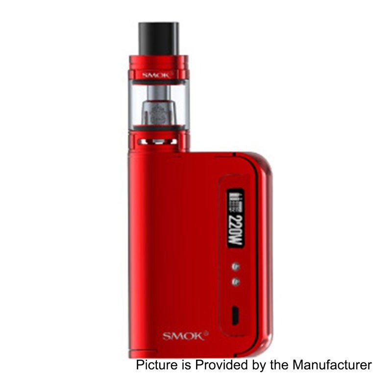 Authentic SMOKTech SMOK OSUB King 220W TC VW Variable Wattage Mod + TFV8 Big Baby Tank Kit - Red, 10~220W, 2 x 18650, 2ml (EU)