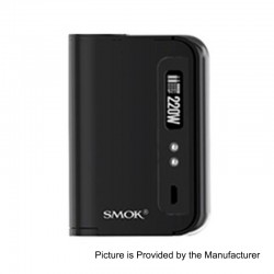 Authentic SMOKTech SMOK OSUB King 220W TC VW Variable Wattage Box Mod - Black, 10~220W, 2 x 18650