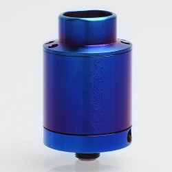 Kennedy V5 Style RDA Rebuildable Dripping Atomizer w/ BF Pin - Enamel Blue, Stainless Steel, 24mm Diameter