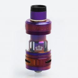 Authentic Uwell Crown 3 Mini Sub Ohm Tank Atomizer - Purple, Stainless Steel, 2ml, 22.6mm Diameter