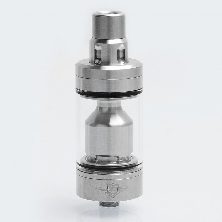 SXK Skyline Style RTA Rebuildable Tank Atomizer - Silver, 316 Stainless Steel, 4ml, 22mm