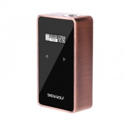 Authentic SNOWWOLF 200W C 235W TC VW Variable Wattage Box Mod - Copper, 10~235W, 2 x 18650