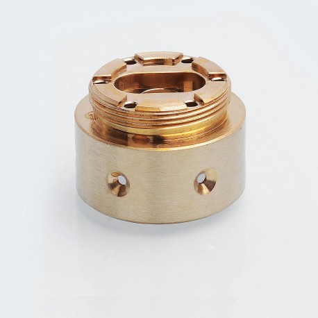 6-Hole Replacement Base for AV Able / Timekeeper Style Mechanical Mod - Brass, Brass, 24.5mm Diameter