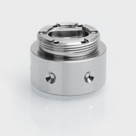 6-Hole Replacement Base for AV Able / Timekeeper Style Mechanical Mod - Silver, Stainless Steel, 24.5mm Diameter