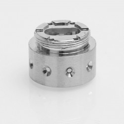 9-Hole Replacement Base for AV Able / Timekeeper Style Mechanical Mod - Silver, Stainless Steel, 24.5mm Diameter