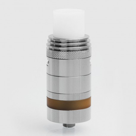 ShenRay SR SER Kalora 2 Style RTA Knurled Rebuildable Tank Atomizer - Silver, Stainless Steel, 4ml, 23mm Diameter