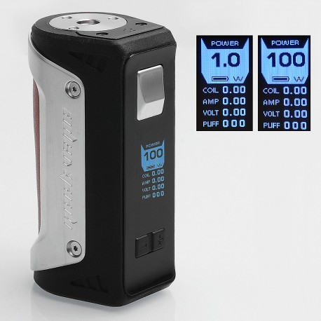 Authentic GeekVape AEGIS 100W Water-proof TC VW Variable Wattage Box Mod - Silver + Brown, 5~100W, 1 x 18650 / 26650
