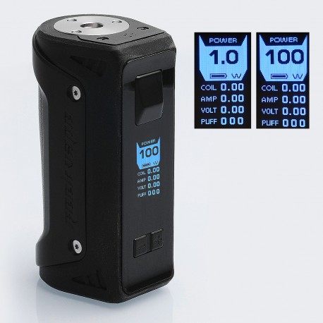 Authentic GeekVape AEGIS 100W Water-proof TC VW Variable Wattage Box Mod - Black, Zinc Alloy, 5~100W, 1 x 18650 / 26650