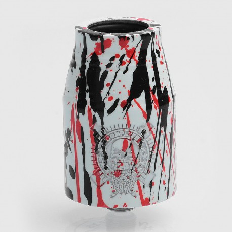 Complyfe Battle Style RDA Rebuildable Dripping Atomizer - White + Black + Red, Aluminum + SS, 24mm, Glow-in-the-Dark