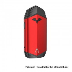 Authentic Rofvape Ark Ship 2200mAh Built-in Battery Starter Kit - Red, Zinc Alloy + ABS + PCTG, 2ml, 0.5 Ohm