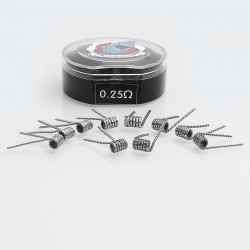 Authentic Vapethink Prado Kanthal A1 Pre-built Coil Heating Wire - 0.3 x 0.8mm Flat x 3 + 32GA, 0.25 Ohm (10 PCS)