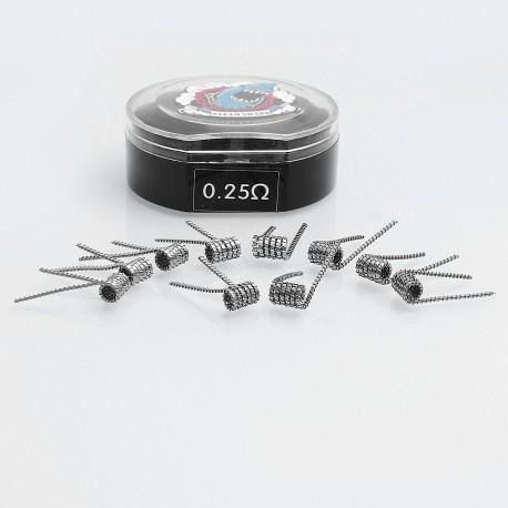 Authentic Vapethink Prado Kanthal A1 Pre-built Coil Heating Wire - 0.3 x 0.8mm Flat x 3 + 32GA, 0.25 Ohm (10 PCS)