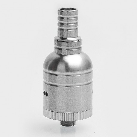 SXK Gourd Style RDA Rebuildable Dripping Atomizer - Silver, Stainless Steel, 22mm Diameter