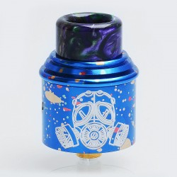 Apocalypse GEN 2 Style RDA Rebuildable Dripping Atomizer w/ BF Pin - Spotted Blue, Aluminum, 24mm Diameter