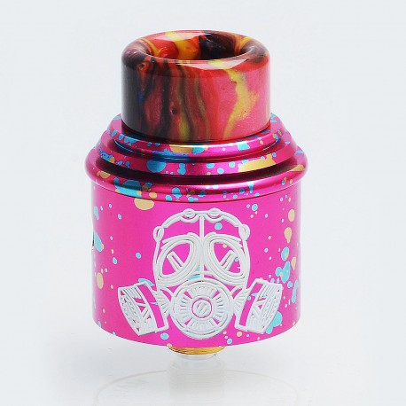 Apocalypse GEN 2 Style RDA Rebuildable Dripping Atomizer w/ BF Pin - Spotted Red, Aluminum, 24mm Diameter