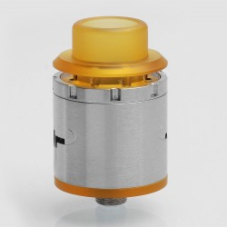 HELM Style RDA Rebuildable Dripping Atomizer w/ BF Pin - Silver, Stainless Steel, 24mm Diameter
