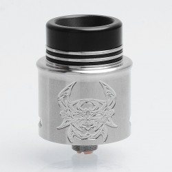 Devil Style RDA Rebuildable Dripping Atomizer w/ BF Pin - Silver, Stainless Steel, 24mm Diameter