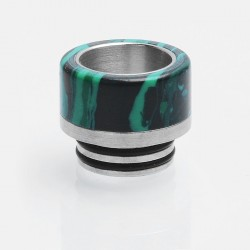 810 Drip Tip for SMOK TFV8 / TFV8 Big Baby / TFV12 Tank - Green, Turquoise + Stainless Steel, 14mm