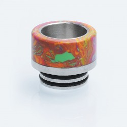810 Drip Tip for SMOK TFV8 / TFV8 Big Baby / TFV12 Tank - Red, Turquoise + Stainless Steel, 14mm