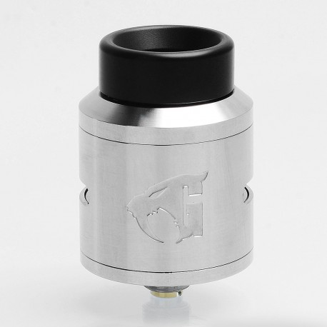 Authentic 528 Custom Goon 1.5 RDA Rebuildable Dripping Atomizer w/ BF Pin - Silver, Stainless Steel, 24mm Diameter