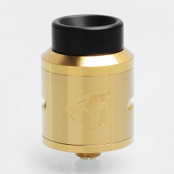 Authentic 528 Custom Goon 1.5 RDA Rebuildable Dripping Atomizer w/ BF Pin - Gold, Stainless Steel, 24mm Diameter