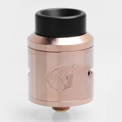 Authentic 528 Custom Goon 1.5 RDA Rebuildable Dripping Atomizer - Rose Gold, Stainless Steel, 24mm Diameter