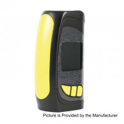 Authentic Pioneer4You IPV Eclipse 200W TC VW Variable Wattage Box Mod - Yellow, 5~200W, 2 x 18650