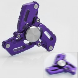 CKF S Style Anti-anxiety Hand Spinner Fidget Toy EDC - Purple, Aluminum, R188 Bearing
