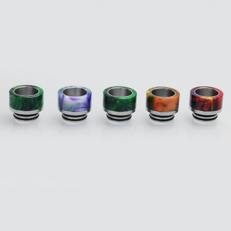 810 Wide Bore Drip Tip for TFV8 / TFV8 Big Baby / TFV12 Tank - Random Color, Resin + Stainless Steel, 14mm