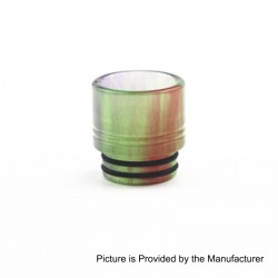 810 Wide Bore Drip Tip for TFV8 / TFV12 Tank / Goon / Kennedy / Mad Dog RDA - Green, Epoxy Resin, 16mm