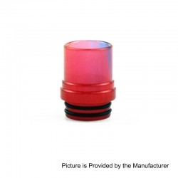 810 Translucent Drip Tip for TFV8 Sub Ohm Tank - Red, Epoxy Resin, 20mm