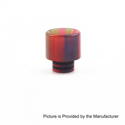 510 Translucent Drip Tip for TFV8 Baby Sub Ohm Tank - Red, Epoxy Resin, 15.4mm