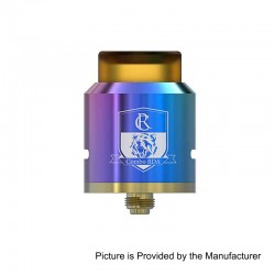 Authentic IJOY Combo RDA Rebuildable Dripping Atomizer - Rainbow, Stainless Steel, 25mm Diameter