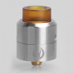 Authentic Vandy Vape Pulse 24 BF RDA Rebuildable Dripping Atomizer w/ BF Pin - Silver, Stainless Steel, 24.4mm Diameter