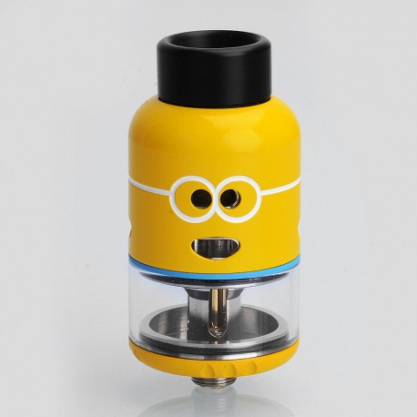 Authentic Ample Pixy RDTA Rebuildable Dripping Tank Atomizer - Yellow, Stainless Steel, 4.5ml, 25mm Diameter