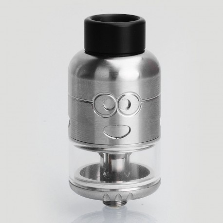 Authentic Ample Pixy RDTA Rebuildable Dripping Tank Atomizer - Silver, Stainless Steel, 4.5ml, 25mm Diameter