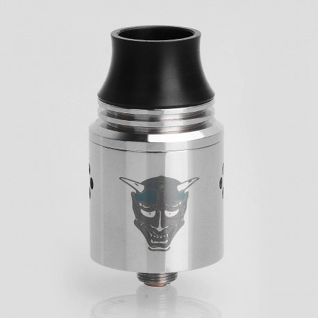 Authentic Blitz Enterprise Hannya RDA Rebuildable Dripping Atomizer - Silver, Stainless Steel, 22mm Diameter