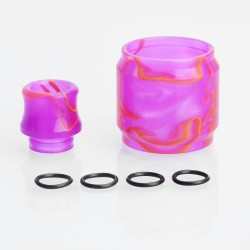 Replacement Tank Sleeve + Drip Tip Kit for SMOK TFV8 Tank - Purple, Resin