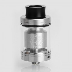 Authentic ADVKEN CP RTA Rebuildable Tank Atomizer - Silver, Stainless Steel, 3.5ml, 24mm Diameter
