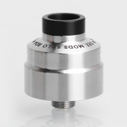 SXK Solo Style RDA Rebuildable Dripping Atomizer w/ BF Pin - Silver, 316 Stainless Steel, 22mm Diameter