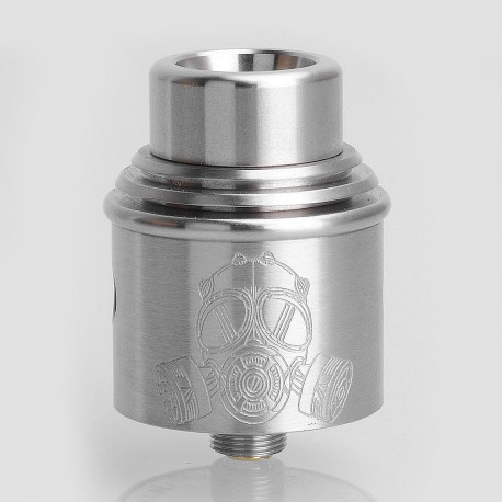 Apocalypse Mechlyfe Style RDA Rebuildable Dripping Atomizer w/ BF Pin - Silver, Stainless Steel, 24mm Diameter